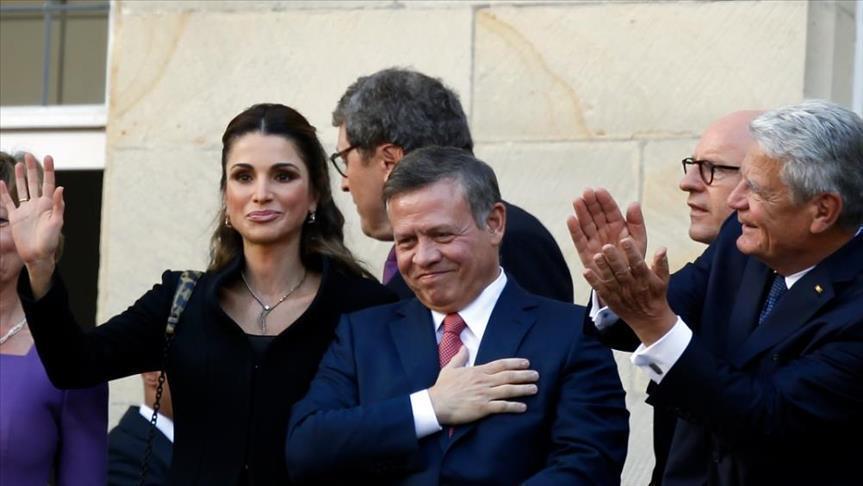 الملك الأردني عبد الله الثاني وعقيلته رانيا العبدالله