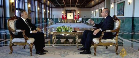 أردوغان في لقاء مع قناة الجزيرة
