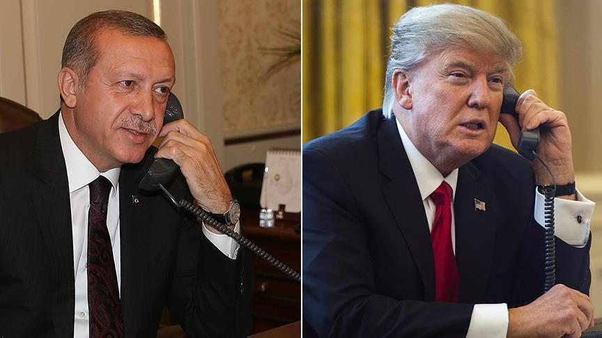 ترامب يهنّئ أردوغان هاتفيًا بنجاح استفتاء التعديلات الدستورية