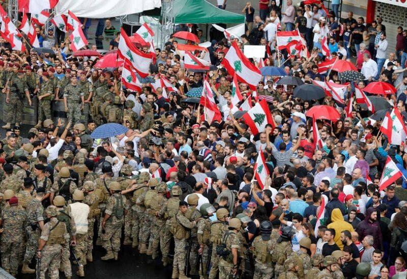 صورة من إحدى تظاهرات ثورة لبنان