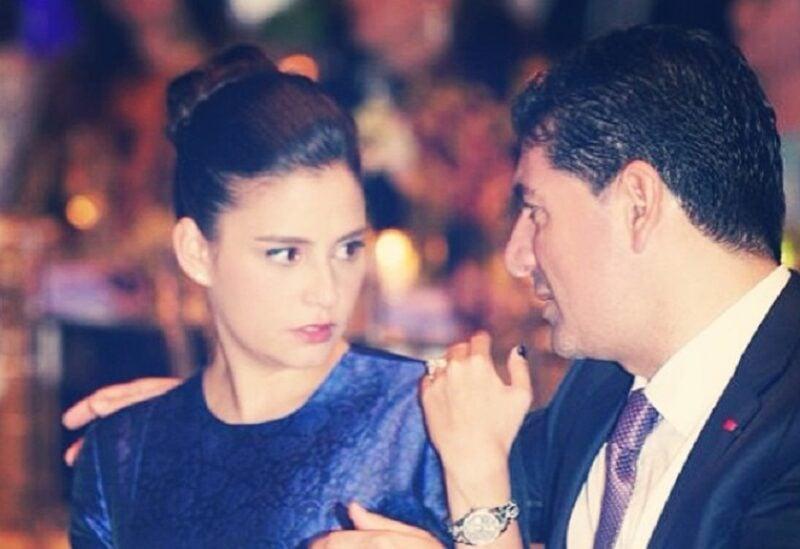 بهاء الحريري وزوجته السيدة حسناء