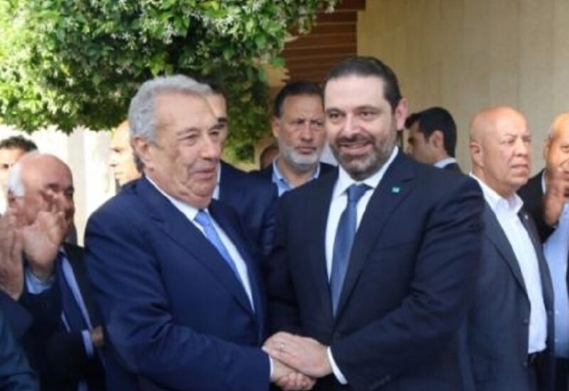 سعد الحريري إلى جانب سمير الخطيب
