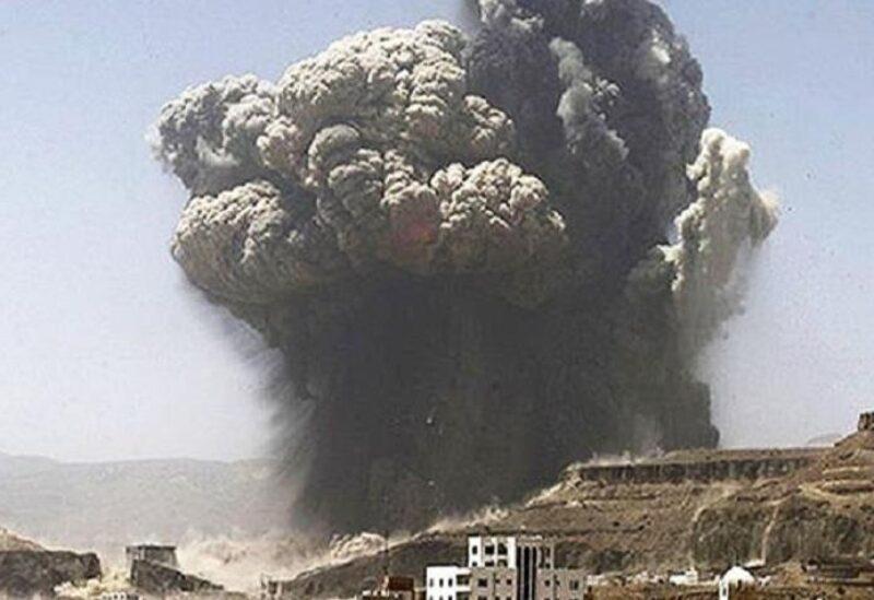 قصف روسي لمعسكر فيلق الشام-تعبيرية