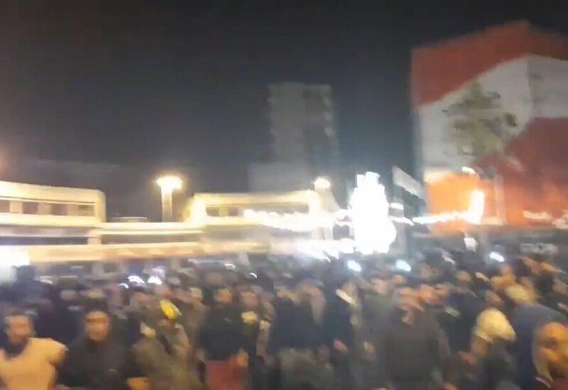 تظاهرة للثوار في مدينة طرابلس شمال لبنان