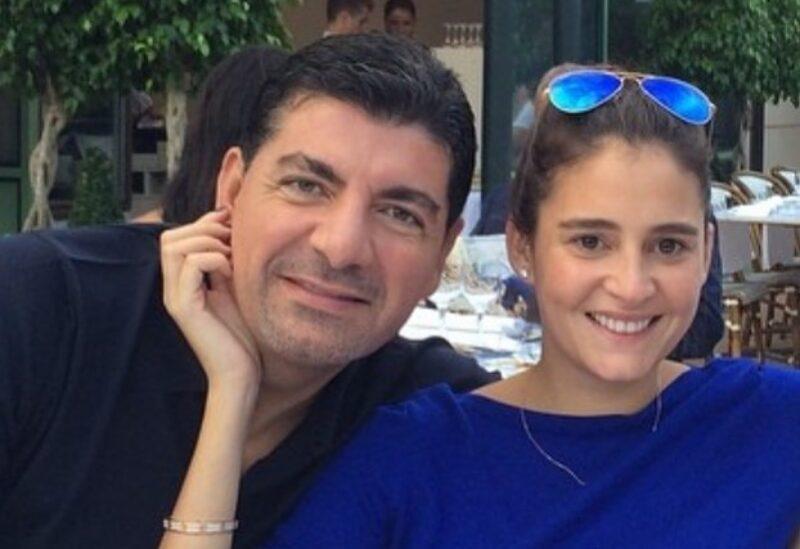 السيدة حسناء الحريري إلى جانب زوجها الشيخ بهاء الحريري