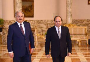 الرئيس السيسي والمشير خليفة حفتر