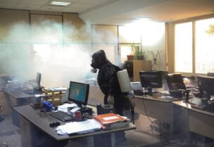 اندلاع حريق في مبنى هيئة الإذاعة والتلفزيون الإيراني