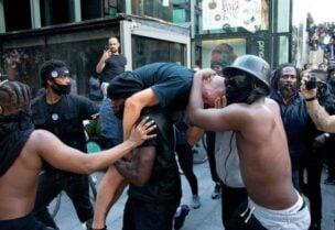 بريطانيا شهدت احتجاجات ضد العنصرية
