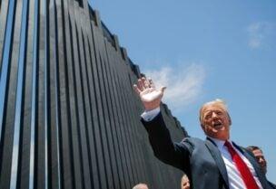 ترامب يشيد بالجدار المبني مع المكسيك