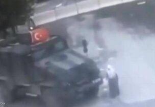 مركبة عسكرية تركية تدهس مسنة