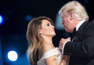 الرئيس الأمريكي ترامب وزوجته