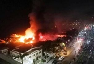 حريق بمرسى للمراكب في الاسكندرية