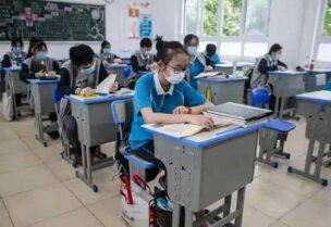 أرشيفة تلاميذ بإحدى مدارس ووهان الصينية