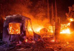 إخلاء الألاف بسبب الحرائق بولاية كاليفورنيا