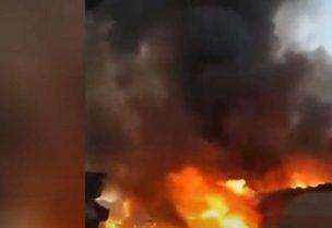 حريق في سوق بإيران - أرشيفية