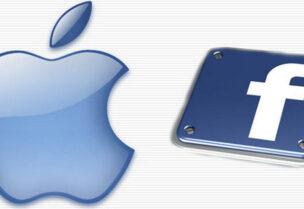 شعار شركتي فيسبوك وأبل
