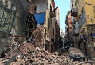 شوارع بيروت بعد الانفجار