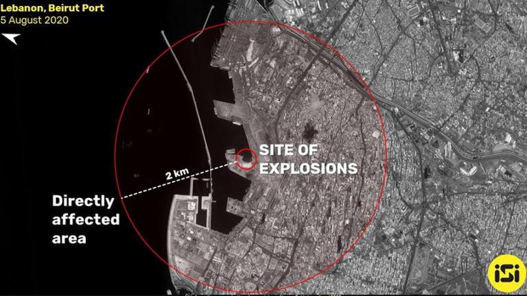 صور الأقمار الصناعية حجم الدمار