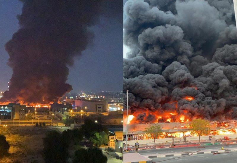 حريق هائل في إمارة عجمان الإماراتية