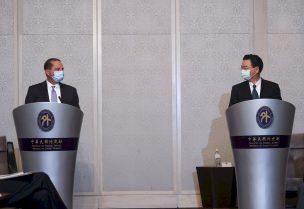 وزير الخارجية التايواني جوزف وو ووزير الصحة الأمريكي