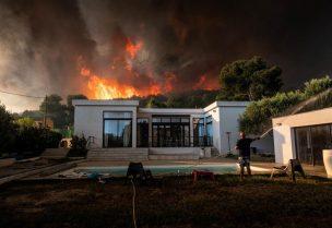 حريق هائل في مرسيليا