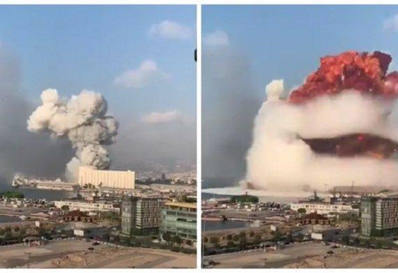 انفجار شحنة نيترات الأمونيوم في مرفأ بيروت