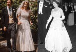 العروس ترتدي ثوب الملكة إليزابيث