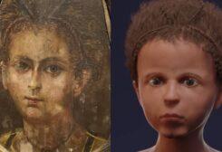 بناء وجه مومياء طفل مصري رقميا