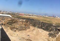 تحذير من تخزين إطارات خلف معمل فرز النفايات في طرابلس