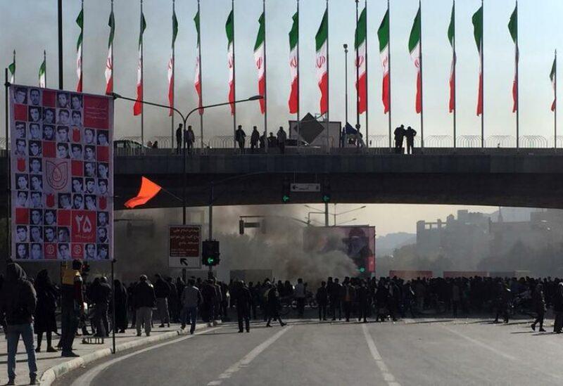 جانب من المظاهرات في إيران- أرشيفية