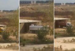 شاحنات تهرّب المازوت من لبنان إلى سوريا