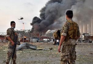 مرفأ بيروت عقب الانفجار