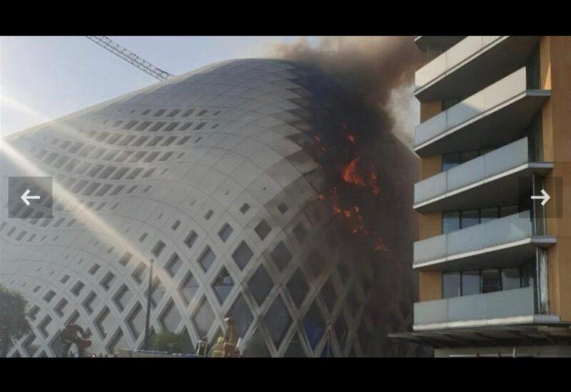 حريق في بيروت