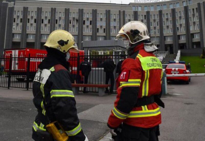 حريق مستشفى في روسيا خاص لمعالجة مرضى كورونا