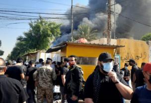 ميليشيا الحشد تحرق مقر الحزب الديمقراطي الكردستاني في بغداد