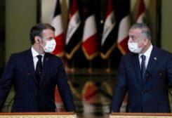 الرئيسان العراقي والفرنسي