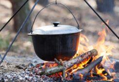 الطهي على الحطب