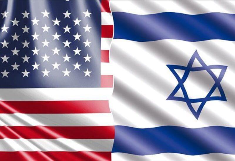 العلم الأمريكي والإسرائيلي