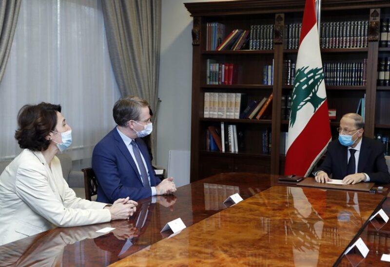 اجتماع عون مع مستشار الرئيس الفرنسي
