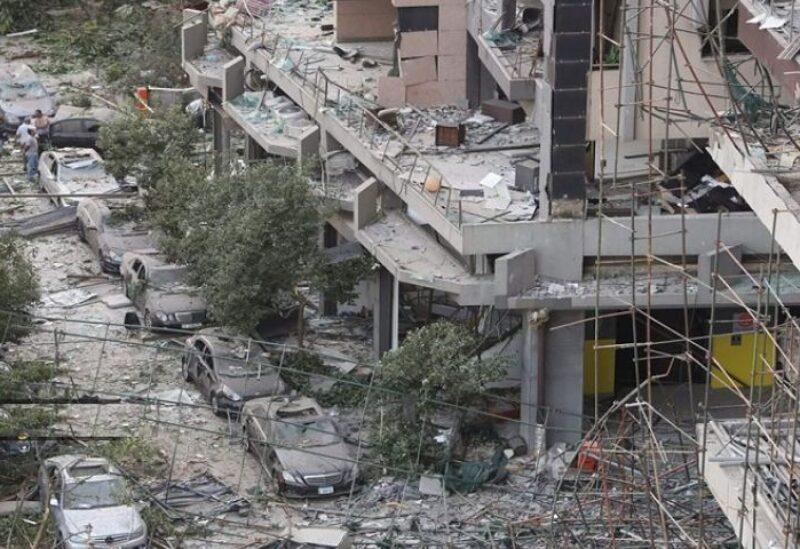 أضرار المباني جراء انفجار المرفأ