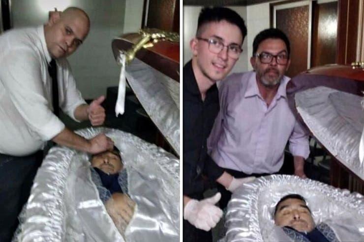 سيلفي مع جثمان مارادونا