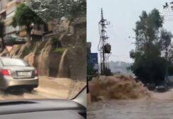 الفيضانات اجتاحت مناطق وطرق عدة في لبنان