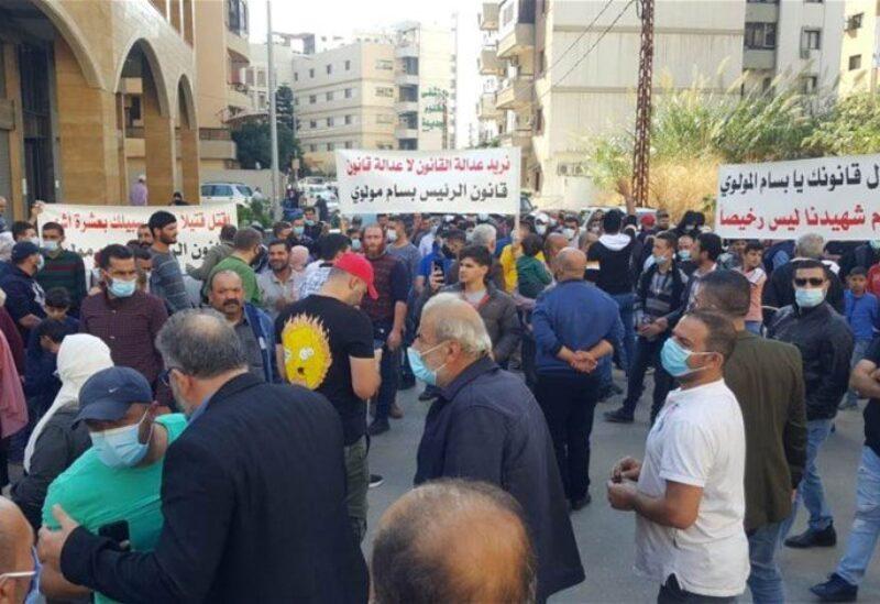مسيرة في طرابلس احتجاجاً على إطلاق موقوف من آل حسون
