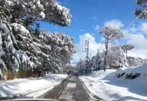 الطرقات المقطوعة بسبب الثلوج