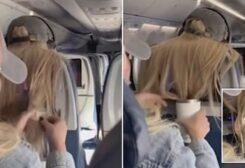 صورة من مقطع فيديو الطائرة