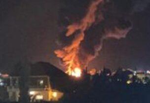 انفجار خزان للمحروقات في منطقة القصر