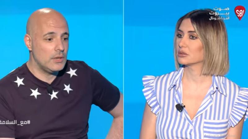 الإعلامية كارين سلامة مع الناقد الفني الصحفي ربيع فران