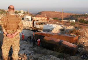 انفجار صهريج في منطقة التليل في عكار